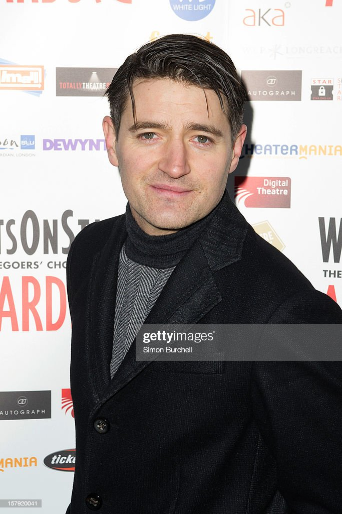 Tom Chambers attends the Whatsonstage.com Theare Awards nominations launch at Cafe de Paris on December 7, 2012 in London, England.