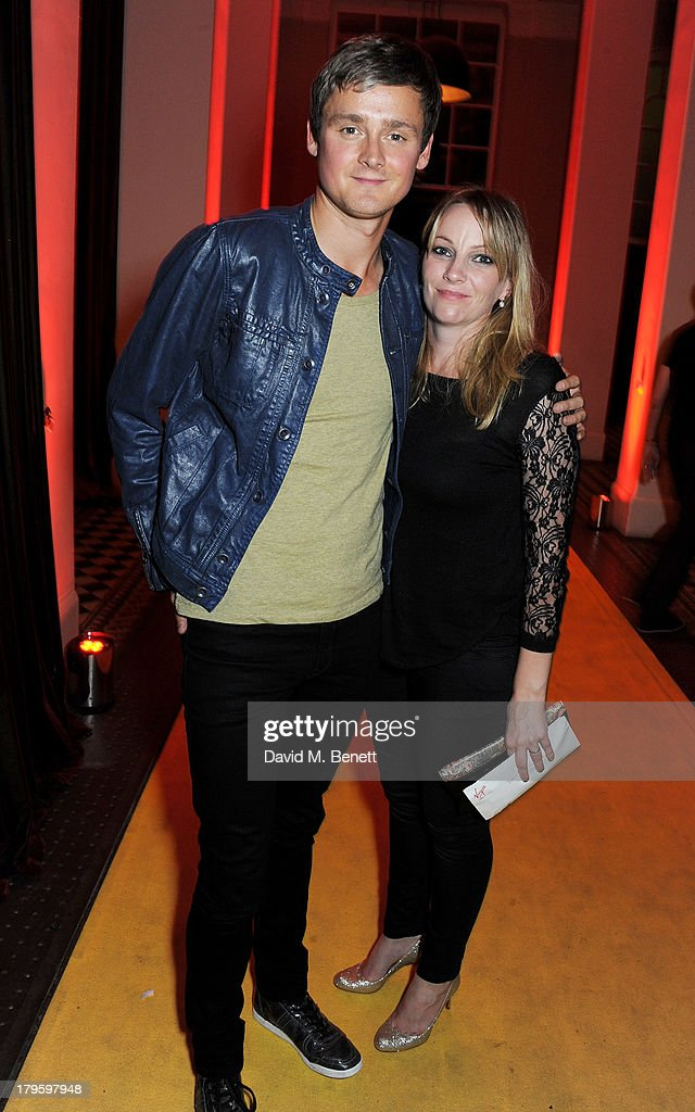 Tom Chaplin (L) and wife Natalie attend the Queen AIDS Benefit in support of The Mercury Phoenix Trust at One Mayfair on September 5, 2013 in London, England.
