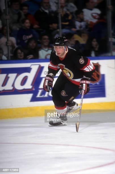 Tom Chorske of the Ottawa Senators skates on the ice during an NHL game against the New York Islanders on November 16 1996 at the Nassau Coliseum in...