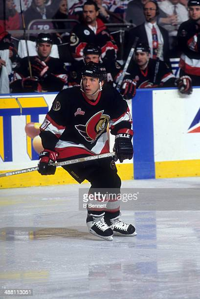 Tom Chorske of the Ottawa Senators skates on the ice during an NHL game against the New York Rangers on December 26 1995 at the Madison Square Garden...
