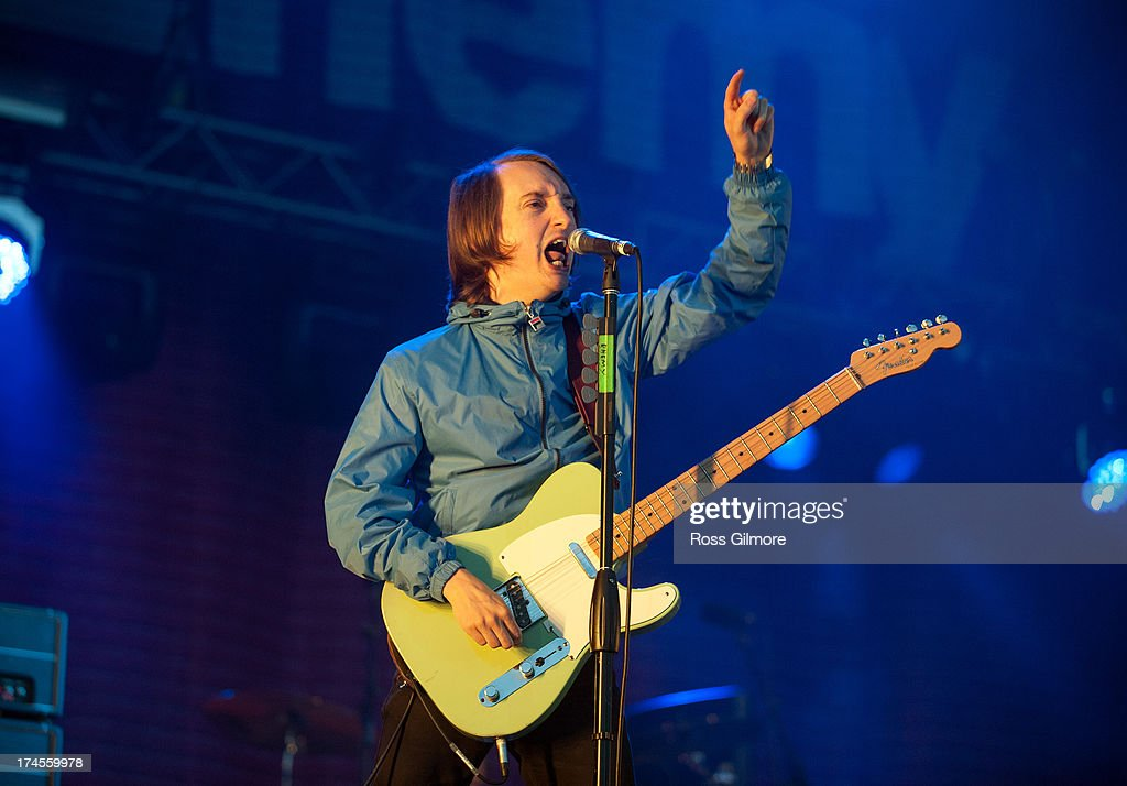 Tom Clarke of The Enemy performs on stage on Day 2 of Wickerman Festival on July 27, 2013 in Dundrennan, Scotland.