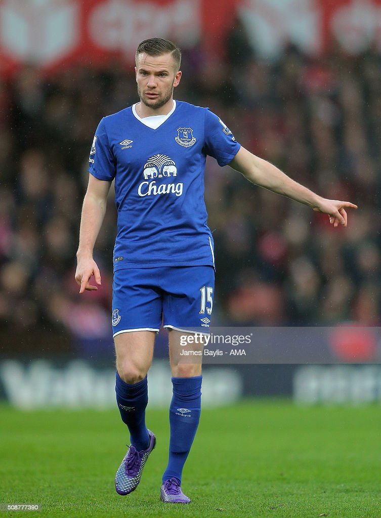 Tom Cleverley of Everton during the Barclays Premier League match between Stoke City and Everton at the Britannia Stadium on February 06, 2016 in Stoke-on-Trent, England.