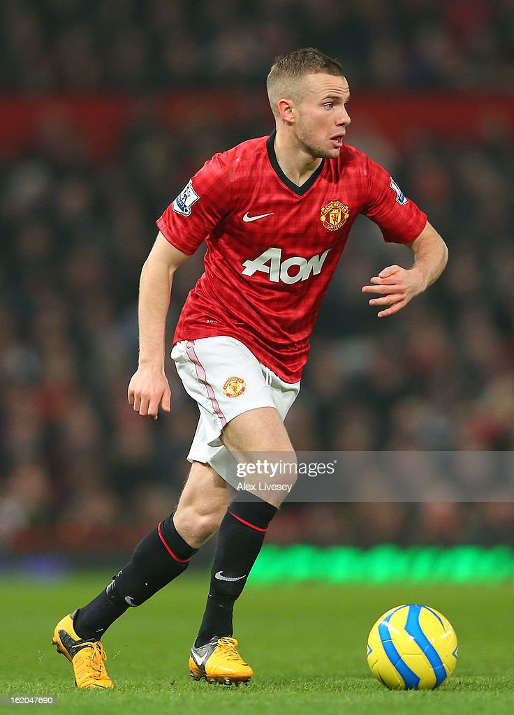 <a gi-track='captionPersonalityLinkClicked' href=/galleries/search?phrase=Tom+Cleverley&family=editorial&specificpeople=4192565 ng-click='$event.stopPropagation()'>Tom Cleverley</a> of Manchester United during the FA Cup Fifth Round match between Manchester United and Reading at Old Trafford on February 18, 2013 in Manchester, England.