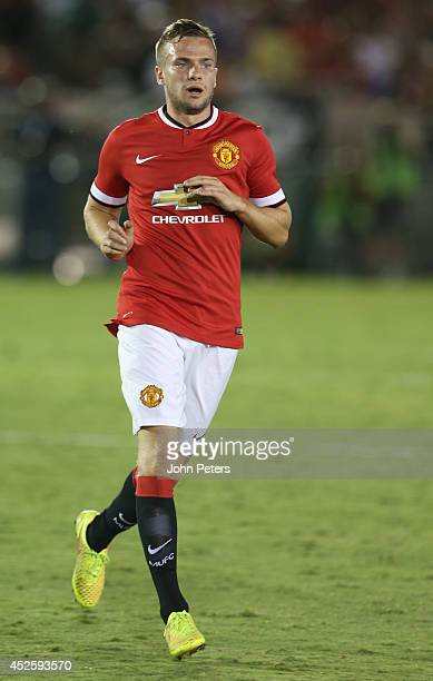 Tom Cleverley of Manchester United in action during the preseason friendly match between LA Galaxy and Manchester United at Rose Bowl on July 23 2014...