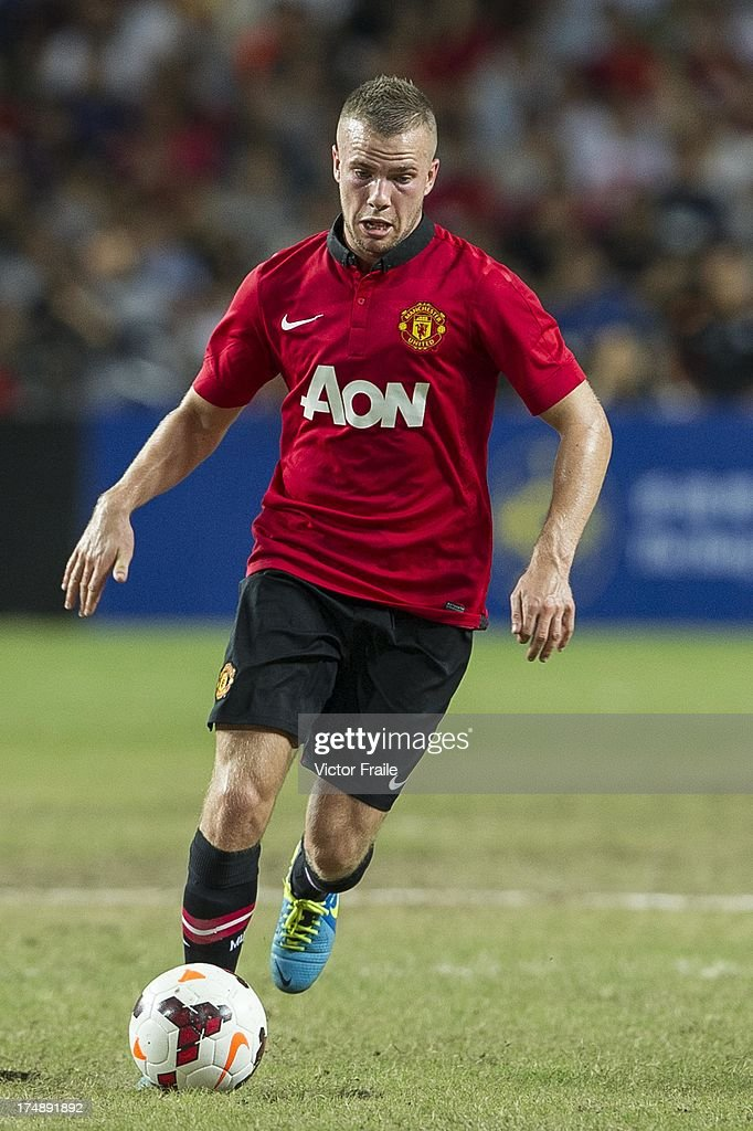 <a gi-track='captionPersonalityLinkClicked' href=/galleries/search?phrase=Tom+Cleverley+-+Soccer+Player&family=editorial&specificpeople=4192565 ng-click='$event.stopPropagation()'>Tom Cleverley</a> of Manchester United runs with the ball during the international friendly match between Kitchee FC and Manchester United at Hong Kong Stadium on July 29, 2013 in So Kon Po, Hong Kong.