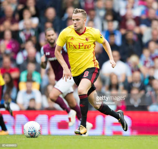 Tom Cleverley of Watford during the pre season friendly match between Aston Villa and Watford at Villa Park on July 29 2017 in Birmingham England