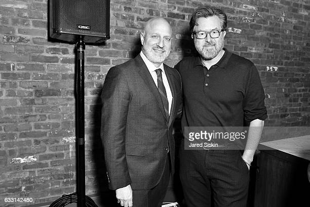 Tom Colicchio and Billy Reid attend Billy Reid Backstage NYFW Men's at The Cellar at The Beekman on January 30 2017 in New York City