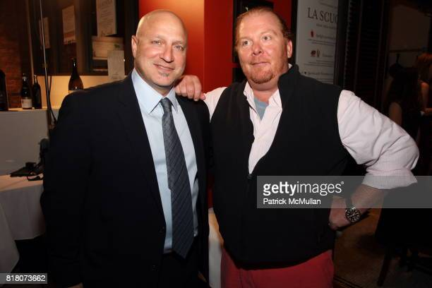 Tom Colicchio and Mario Batali attend Epicurious 15th Anniversary Dinner at Eataly on September 29 2010 in New York