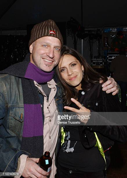 Tom Colicchio and Paola Mendoza during 2005 Park City 'On the Outs' Party at XboxFader Saloon at Levi's Ranch in Park City Utah United States