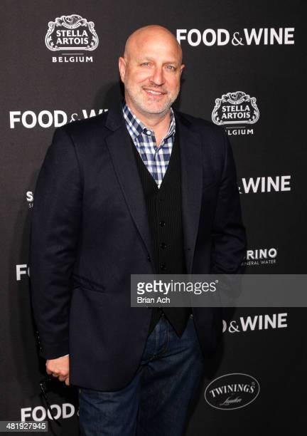 Tom Colicchio attends the 2014 FOOD WINE Best New Chefs Event arrivals at Powerhouse at The American Museum of Natural History on April 1 2014 in New...
