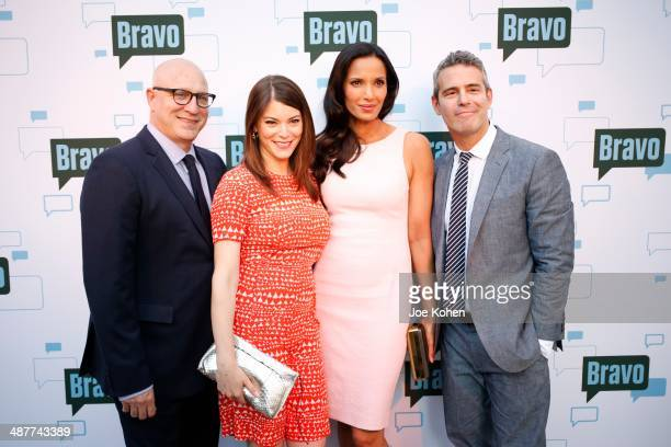 Tom Colicchio Gail Simmons Padma Lakshmi and Andy Cohen attend A Night With 'Top Chef' at Leonard H Goldenson Theatre on May 1 2014 in North...