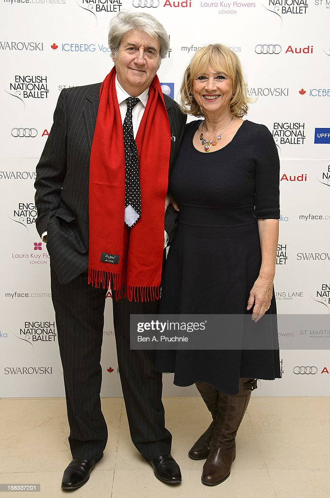 Tom Conti (L) attends the English National Balletss Christmas Party at St Martins Lane Hotel on December 13, 2012 in London, England.