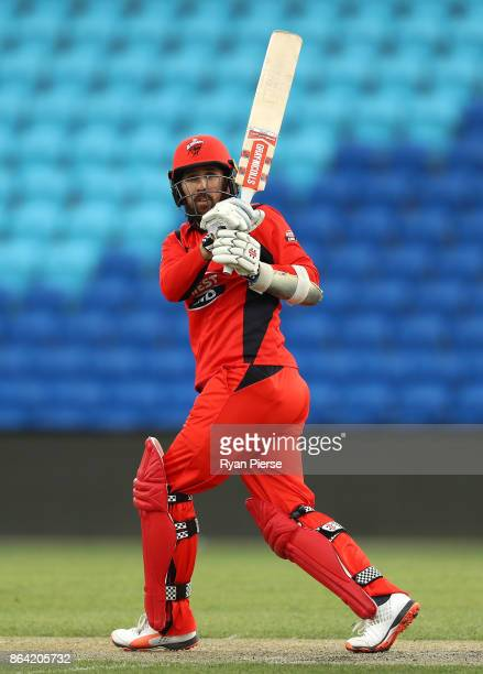 Tom Cooper of the Redbacks bats during the JLT One Day Cup Final match between Western Australia and South Australia at Blundstone Arena on October...