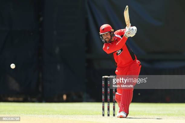 Tom Cooper of the Redbacks bats during the JLT One Day Cup match between Victoria and South Australia at North Sydney Oval on October 12 2017 in...