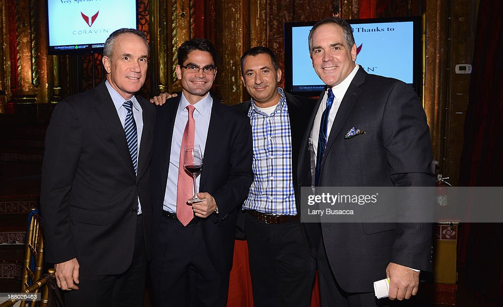 Tom Corson, Patrick Mata, Juanjo Garcia Pinol and Christopher Mattioli attend T.J. Martell Foundation's Annual World Tour of Wine Dinner at The Angel Orensanz Foundation on November 14, 2013 in New York City.