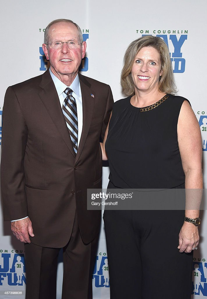 Tom Coughlin and Executive Director Keli Coughlin attend the 2014 Tom Coughlin Jay Fund Foundation's 'Champions for Children Gala' at Cipriani 42nd Street on October 17, 2014 in New York City.