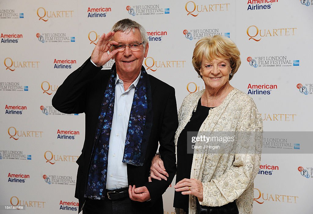 Tom Courtenay and Dame Maggie Smith attend the premiere of 'Quartet' during the 56th BFI London Film Festival at Odeon Leicester Square on October 15, 2012 in London, England.