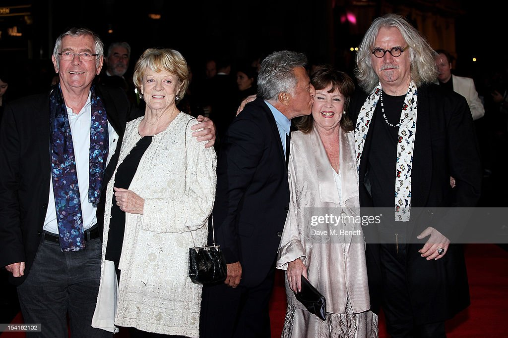 Tom Courtenay, Dame Maggie Smith, director Dustin Hoffman, Pauline Collins and Billy Connolly attend the Premiere of 'Quartet' during the 56th BFI London Film Festival at Odeon Leicester Square on October 15, 2012 in London, England.