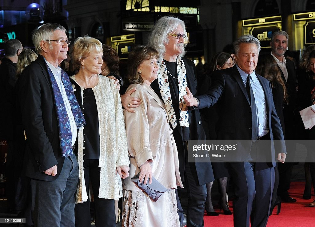 Tom Courtenay, Dame Maggie Smith, Pauline Collins, Billy Connolly and Dustin Hoffman attend the Premiere of 'Quartet' during the 56th BFI London Film Festival at Odeon Leicester Square on October 15, 2012 in London, England.