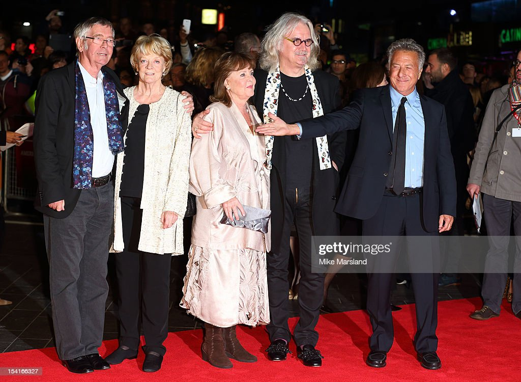 <a gi-track='captionPersonalityLinkClicked' href=/galleries/search?phrase=Tom+Courtenay&family=editorial&specificpeople=699230 ng-click='$event.stopPropagation()'>Tom Courtenay</a>, <a gi-track='captionPersonalityLinkClicked' href=/galleries/search?phrase=Maggie+Smith&family=editorial&specificpeople=206821 ng-click='$event.stopPropagation()'>Maggie Smith</a>, <a gi-track='captionPersonalityLinkClicked' href=/galleries/search?phrase=Dustin+Hoffman&family=editorial&specificpeople=171356 ng-click='$event.stopPropagation()'>Dustin Hoffman</a>, Pauline Collins and <a gi-track='captionPersonalityLinkClicked' href=/galleries/search?phrase=Billy+Connolly&family=editorial&specificpeople=208248 ng-click='$event.stopPropagation()'>Billy Connolly</a> attend the Premiere of 'Quartet' during the 56th BFI London Film Festival at Odeon Leicester Square on October 15, 2012 in London, England.