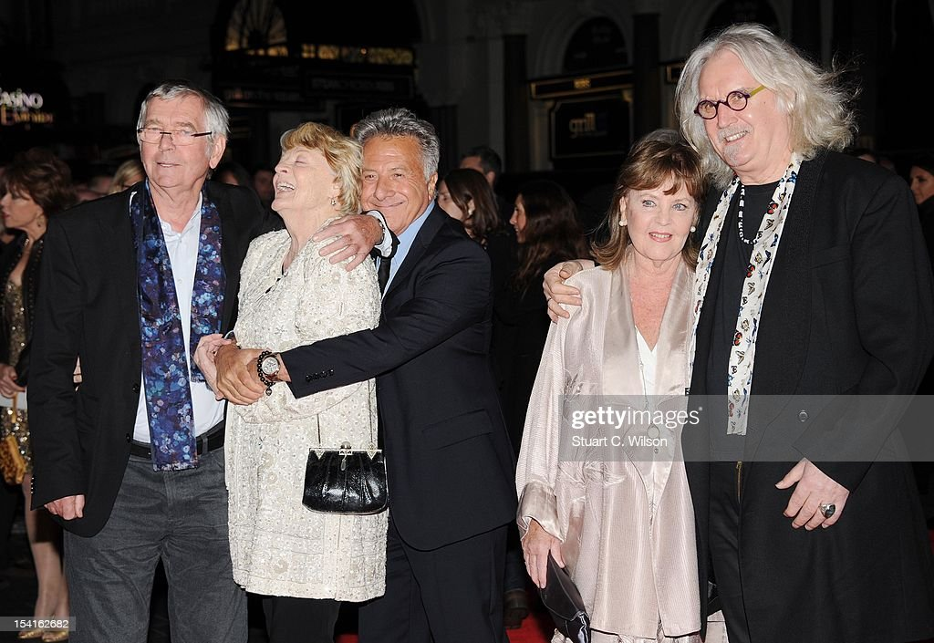 Tom Courteney, Dame Maggie Smith, Dustin Hoffman, Pauline Collins and Billy Connolly attend the Premiere of 'Quartet' during the 56th BFI London Film Festival at Odeon Leicester Square on October 15, 2012 in London, England.