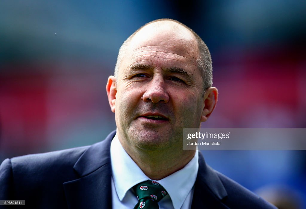 <a gi-track='captionPersonalityLinkClicked' href=/galleries/search?phrase=Tom+Coventry&family=editorial&specificpeople=10122580 ng-click='$event.stopPropagation()'>Tom Coventry</a>, Head Coach of London Irish looks on prior to the Aviva Premiership match between London Irish and Harlequins at the Madejski Stadium on May 01, 2016 in Reading, England.