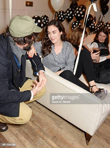 Tom Craig Tallulah Harlech Arizona Muse and Ben Grimes attend a dinner hosted by Jo Malone London and Tallulah Harlech to launch the 'Just Because'...