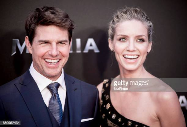 Tom Cruise and actress Annabelle Wallis attend 'The Mummy' premiere at Callao Cinema on May 29 2017 in Madrid Spain