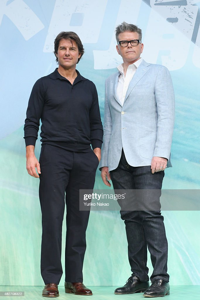 <a gi-track='captionPersonalityLinkClicked' href=/galleries/search?phrase=Tom+Cruise&family=editorial&specificpeople=156405 ng-click='$event.stopPropagation()'>Tom Cruise</a> and <a gi-track='captionPersonalityLinkClicked' href=/galleries/search?phrase=Christopher+McQuarrie&family=editorial&specificpeople=2784110 ng-click='$event.stopPropagation()'>Christopher McQuarrie</a> attend the Japan Press Conference of 'Mission: Impossible - Rogue Nation' at the Peninsula Hotel Ballroom on August 2, 2015 in Tokyo, Japan.