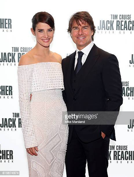 Tom Cruise and Cobie Smulders attend the European premiere of 'Jack Reacher Never Go Back' at Cineworld Leicester Square on October 20 2016 in London...