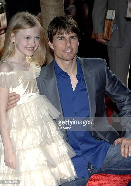 Tom Cruise and Dakota Fanning during 'War of the Worlds' New York City Premiere Arrivals at Ziegfield Theater in New York City New York United States