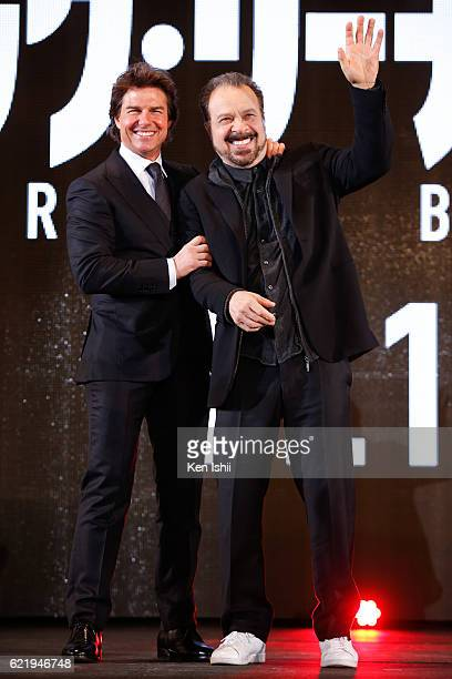 Tom Cruise and Edward Zwick attend the Tokyo Premiere of the Paramount Pictures' 'Jack Reacher Never Go Back' on November 9 2016 at Toho Cinemas...