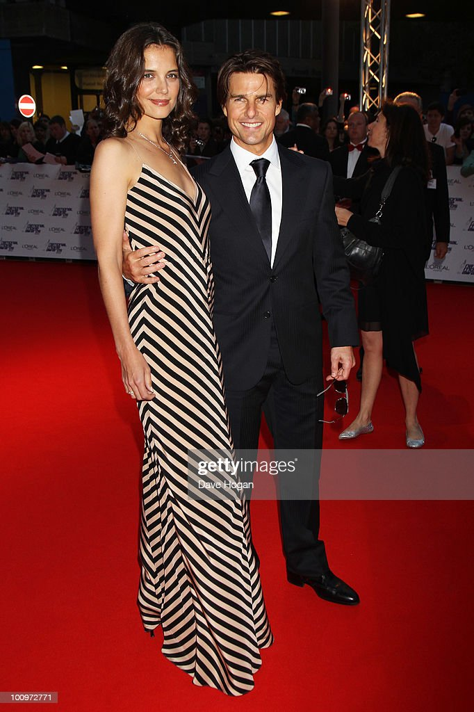 Tom Cruise and Katie Holmes arrives at The National Movie Awards 2010 held at The Royal Festival Hall on May 26 2010 in London England