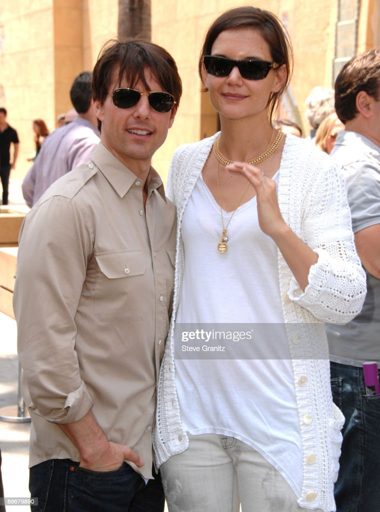 Tom Cruise and Katie Holmes Cameron Diaz honored with a Star on the Hollywood Walk Of Fame on June 22, 2009 in Hollywood, California.