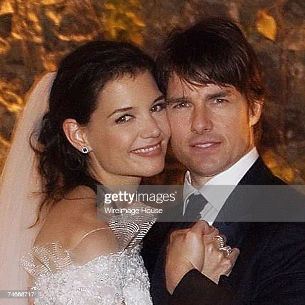 Tom Cruise (right) and Katie Holmes were wed just after sunset on November 18, 2006 at Odescalchi Castle overlooking Lake Braccino outside of Rome, Italy. More than 150 close family and friends were in attendance. Credit: Robert Evans/Handout via WireIm