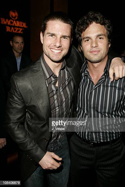 Tom Cruise and Mark Ruffalo during Premiere Magazine's 'The New Power' Inside at Forbidden City in Hollywood California United States