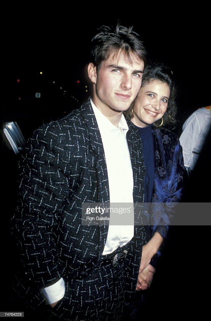 Tom Cruise and Mimi Rogers at the Ziegfeld Theater in New York City NY