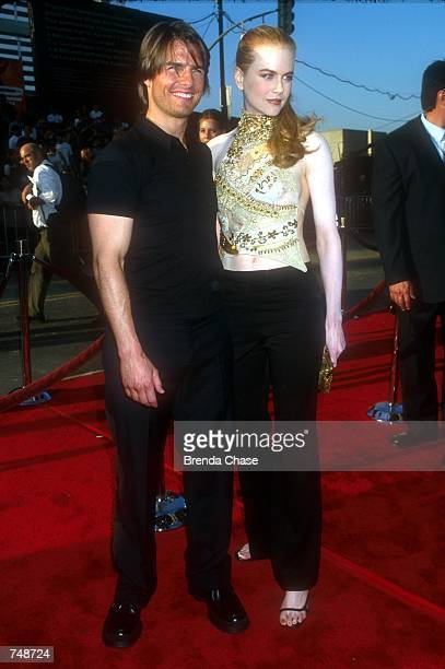 Tom Cruise and Nicole Kidman arrive at the premiere of 'Mission Impossible 2' May 18 2000 at the Chinese Theater in Hollywood CA Cruise and Kidman...