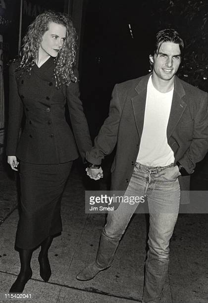Tom Cruise and Nicole Kidman during Herb Ritts Exhibition Opening October 22 1992 at Fahey/Klein Gallery in West Hollywood California United States