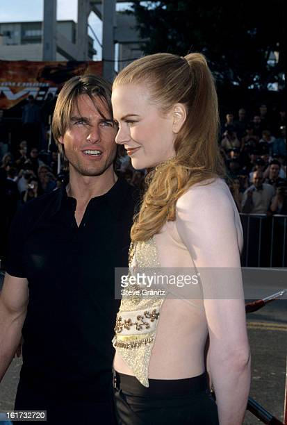 Tom Cruise and Nicole Kidman during 'Mission Impossible 2' Los Angeles Premiere at Mann Chinese Theatre in Hollywood California United States