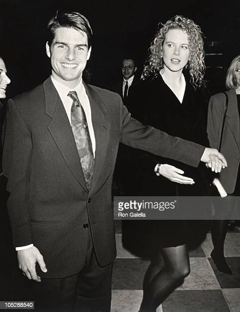 Tom Cruise and Nicole Kidman during Oscar's Greatest Moments 19711991 Launch Party at Museum of Television And Radio in New York City New York United...