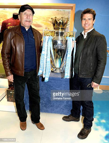 Tom Cruise and Robert Duvall from the Paramount Pictures film 'Jack Reacher' attend the Manchester derby as part of their European Tour at Etihad...