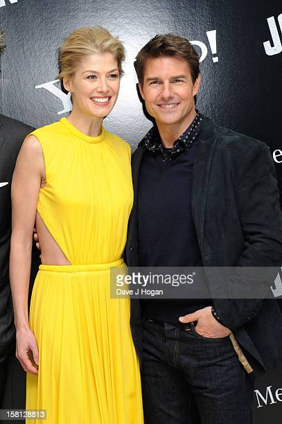 Tom Cruise and Rosamund Pike attend the world premiere of 'Jack Reacher' at The Odeon Leicester Square on December 10 2012 in London England