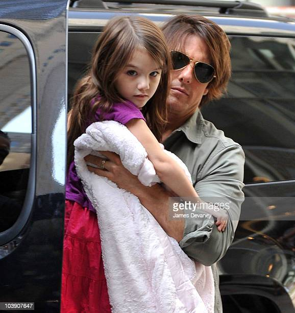 Tom Cruise and Suri Cruise visit FAO Schwarz on September 7 2010 in New York City