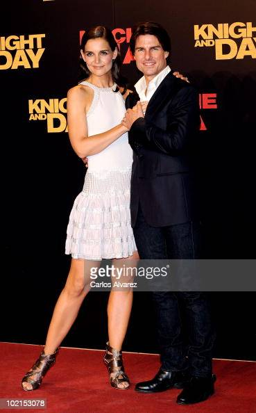 Tom Cruise and wife Katie Holmes attend 'Knight and Day' premiere at the Lope de Vega Theater in Seville Spain