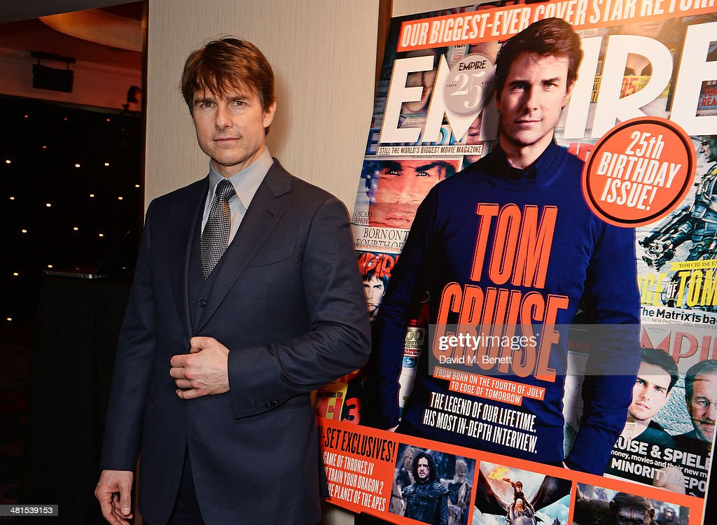 <a gi-track='captionPersonalityLinkClicked' href=/galleries/search?phrase=Tom+Cruise&family=editorial&specificpeople=156405 ng-click='$event.stopPropagation()'>Tom Cruise</a> arrives at the Jameson Empire Awards 2014 at The Grosvenor House Hotel on March 30, 2014 in London, England.