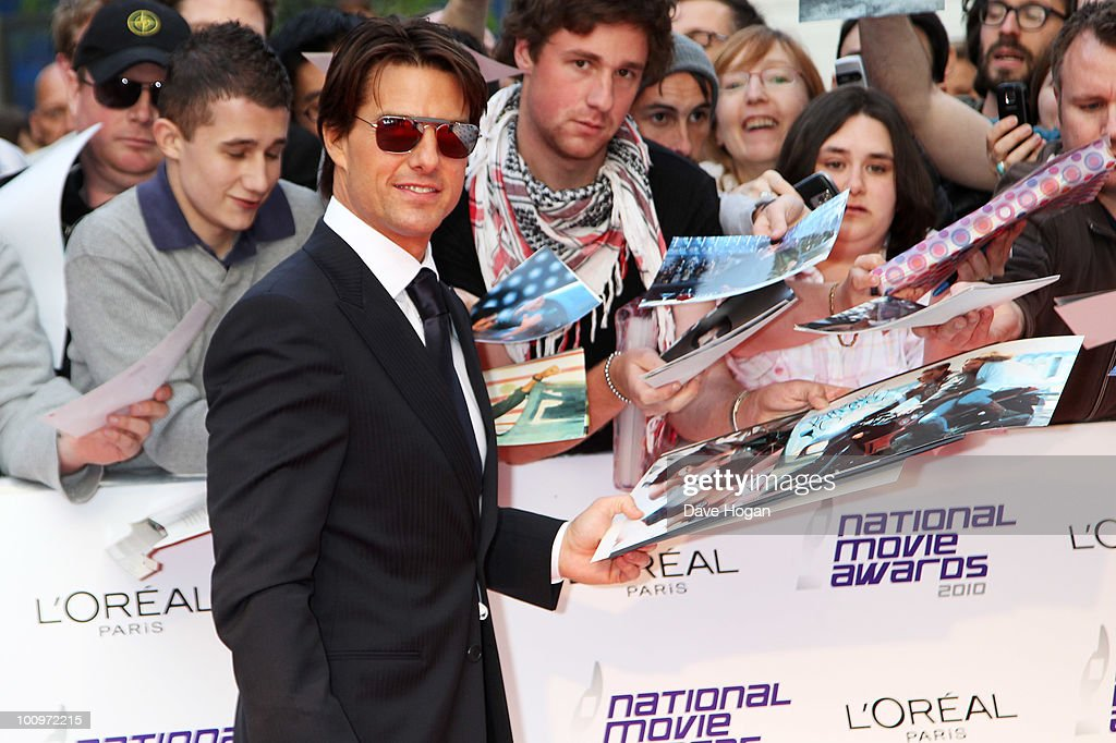 Tom Cruise arrives at The National Movie Awards 2010 held at The Royal Festival Hall on May 26 2010 in London England