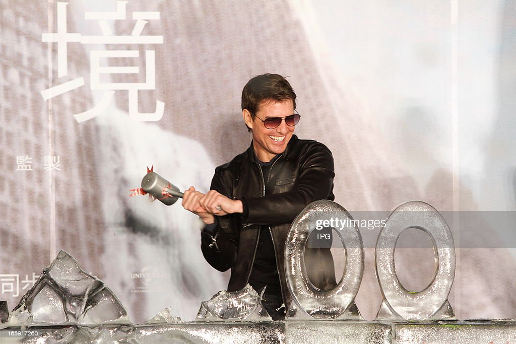 Tom Cruise at premiere of movie Oblivion on Saturday April 06, 2013 in Taipei, Taiwan, China.