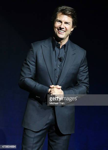 Tom Cruise attends 2015 CinemaCon The State Of The Industry Past Present and Future Paramount presentation held at Caesars Palace Resorts and Casino...