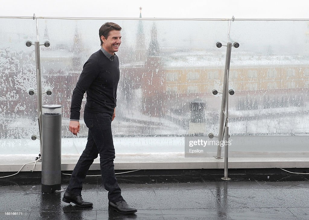 Tom Cruise attends a photo call of the 'Oblivion' at the Ritz Carlton Hotel on April 1, 2013 in Moscow, Russia.